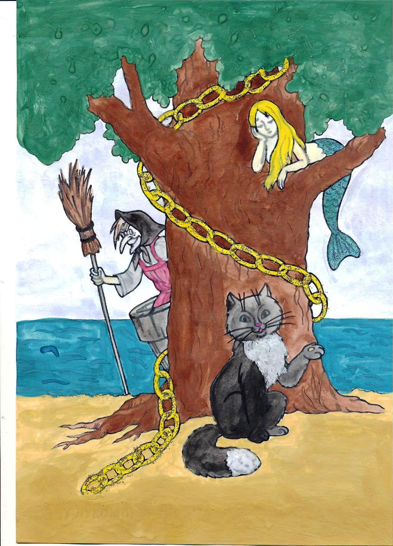 Сказка кот ученый ходит по цепи кругом